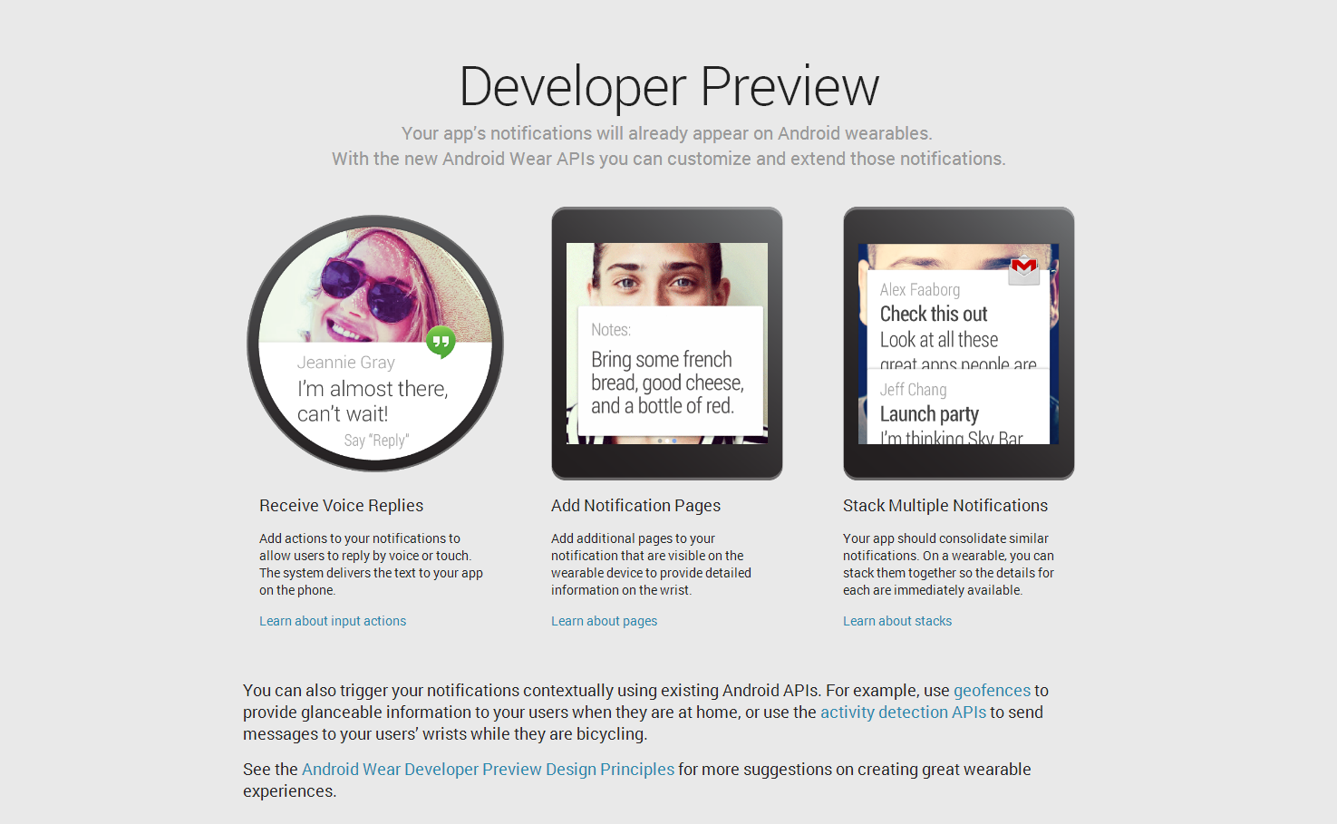 Android Wear   Android Developers2